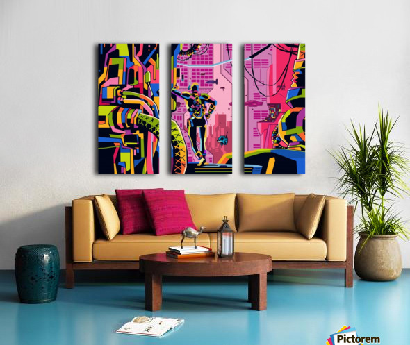 utopia Split Canvas print