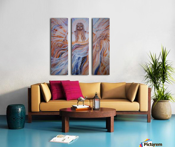 All-father Father of all.  Triptych Split Canvas print