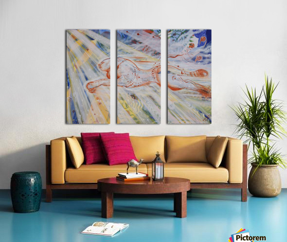 Speed Split Canvas print
