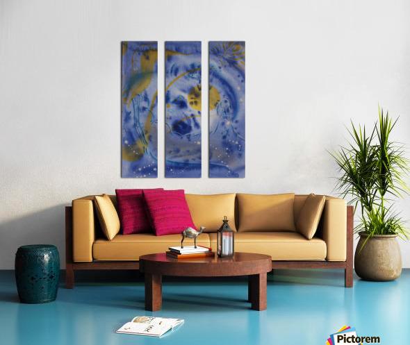 Night Magic Wealth Getting Split Canvas print