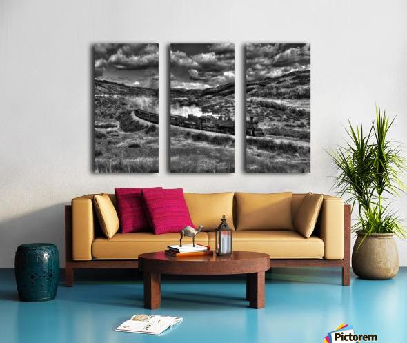 chama freight train B&W Split Canvas print