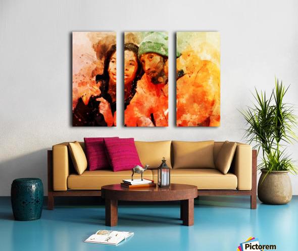 kobe and gianna bryant Split Canvas print