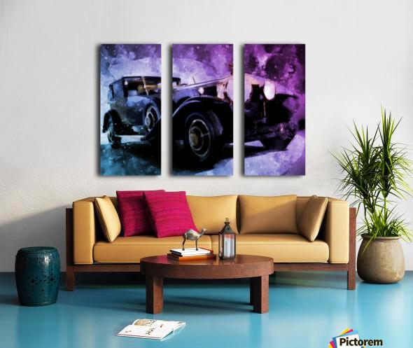 car vintage Split Canvas print