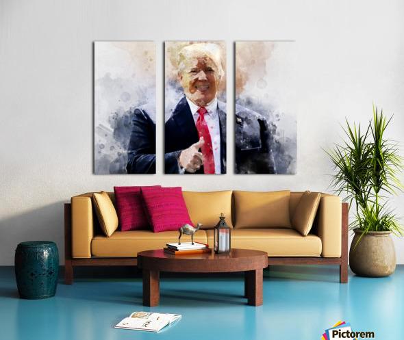 Donald trump Split Canvas print