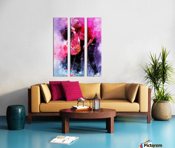 Gianna and kobe bryant Split Canvas print