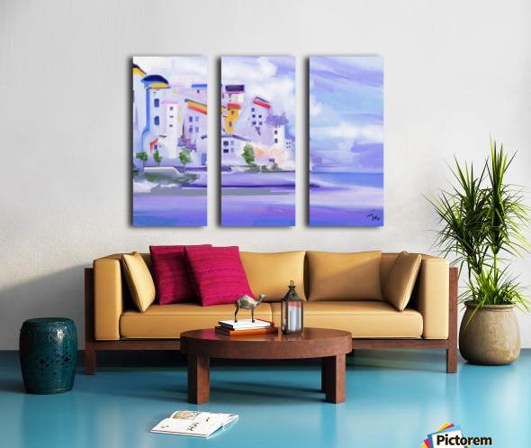 0191 Split Canvas print