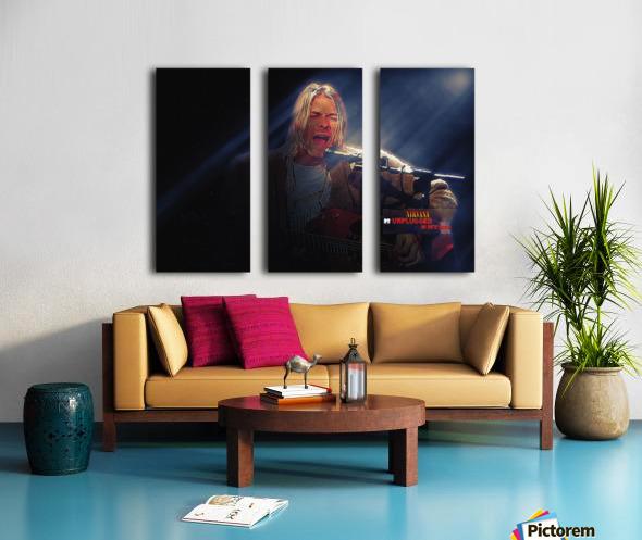 Kurt Cobain Live MTV Unplugged Split Canvas print