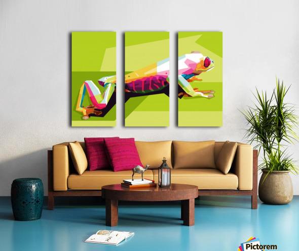 Frog Split Canvas print