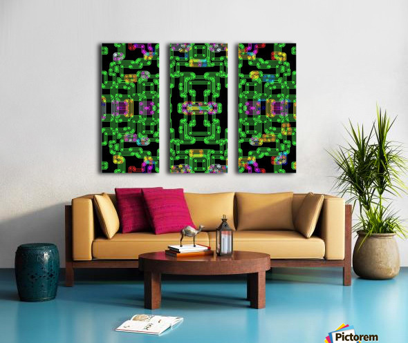 Colorful PIPES Split Canvas print