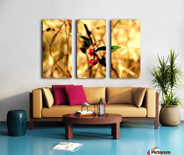 Fall Berries Split Canvas print