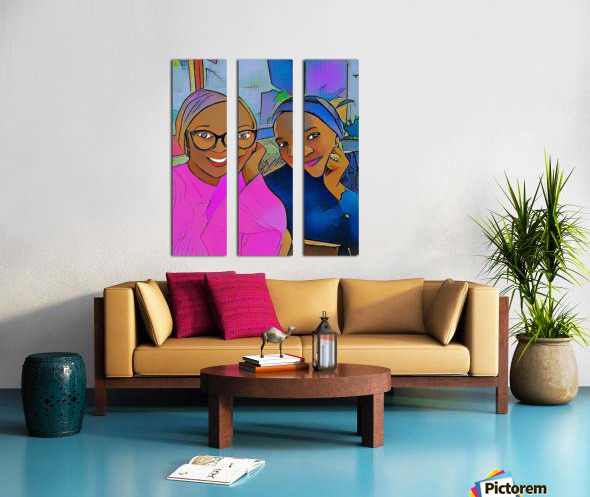 Hangout v2 Split Canvas print