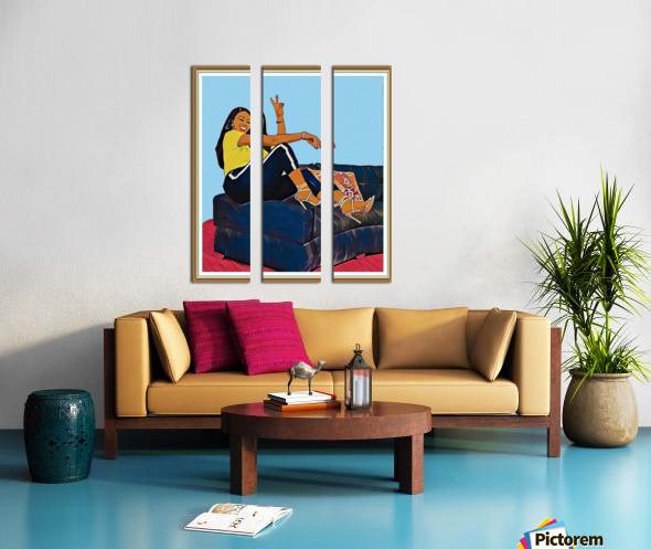 Super Splash Split Canvas print