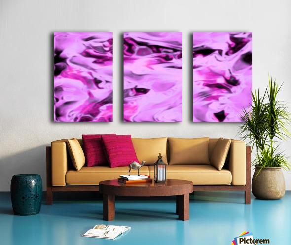 Pink Flamingo - pink grey black abstract swirl abstract wall art Split Canvas print