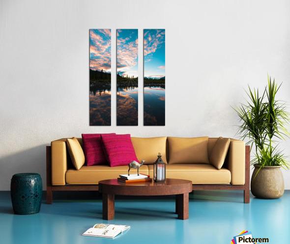 Sunset Reflection Split Canvas print
