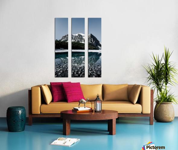 Lake Louise Reflection Split Canvas print