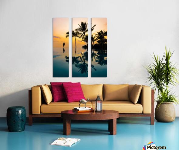 Relaxation Sunset Split Canvas print