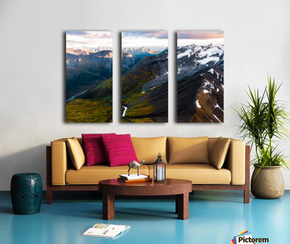Mountains and Valleys Split Canvas print