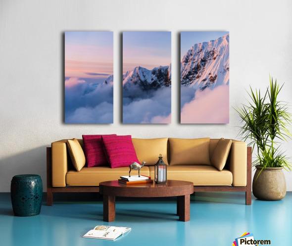 Snowy Peaks Split Canvas print