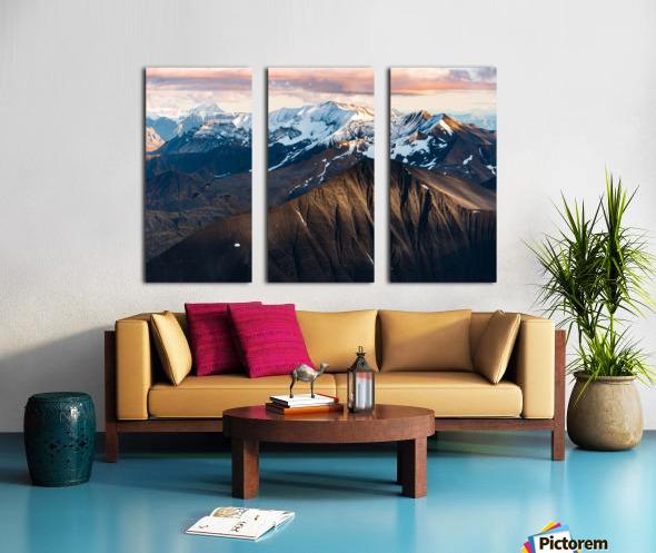 Alaskan Mountains Split Canvas print