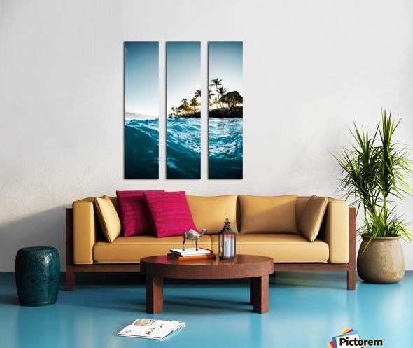 Blue Morning Split Canvas print