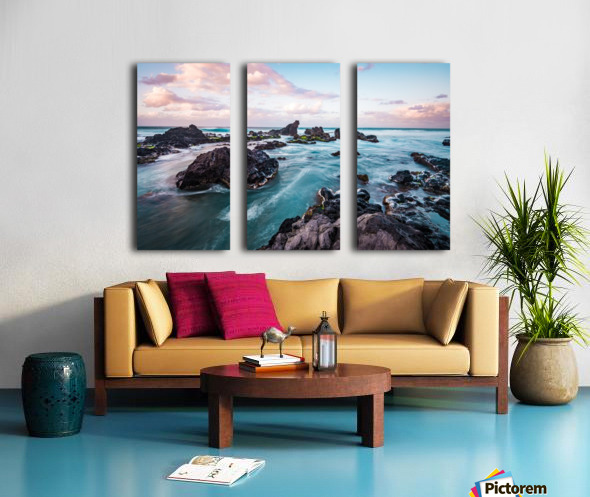 Pastel Waters Split Canvas print