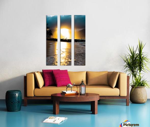 Tropical Sunset Split Canvas print