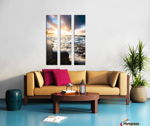 Seafoam Sunrise Split Canvas print