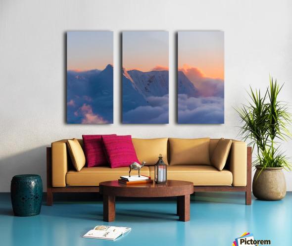 Pastel Peak Split Canvas print