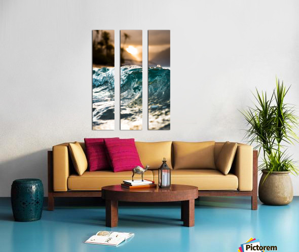 Glassy Wave Split Canvas print