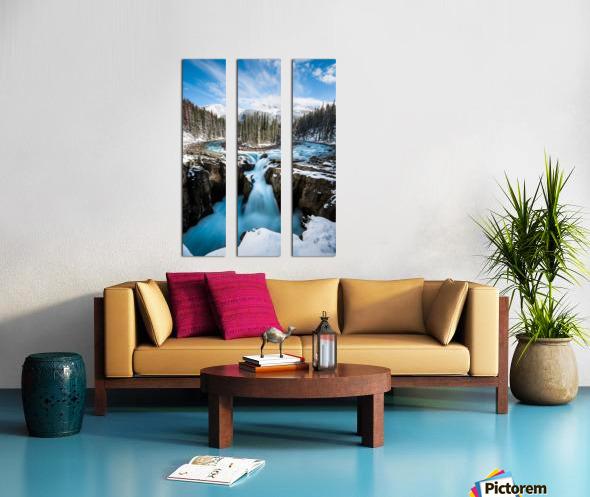 Snowy Sunwapta Falls Split Canvas print
