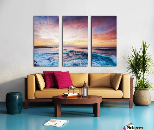 Easy Evening Split Canvas print