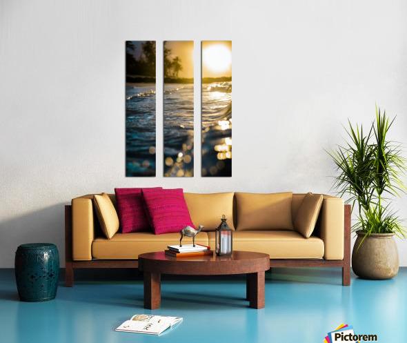 Glistening Waters Split Canvas print