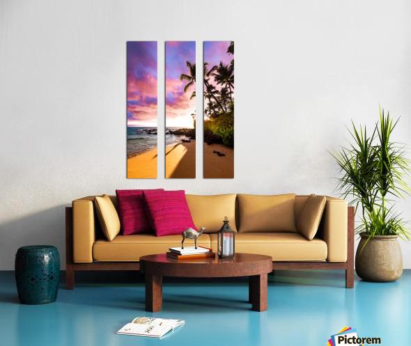 Secret Beach Split Canvas print
