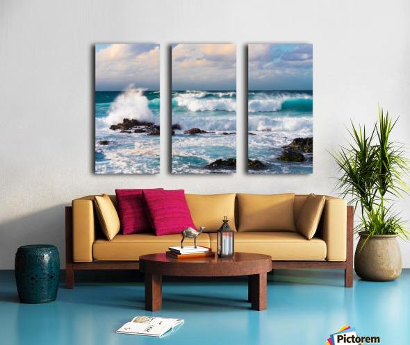 Blue Crash Split Canvas print