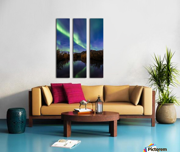 Northern Lights Reflection Split Canvas print