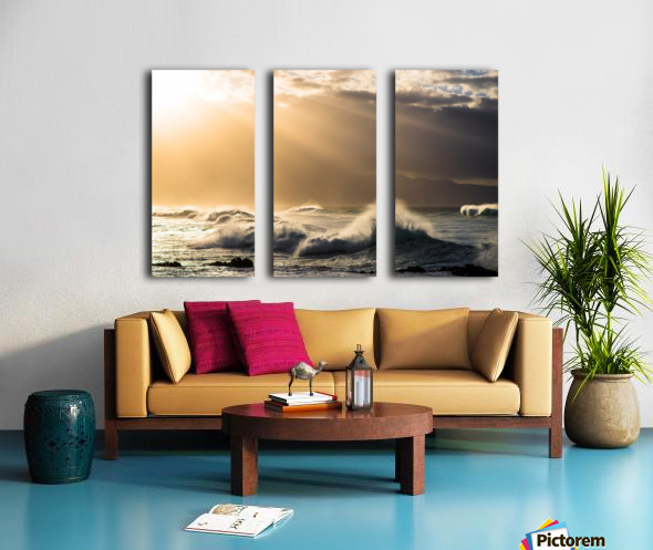 Light in Darkness Split Canvas print