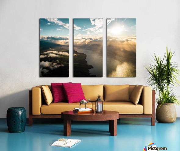 Maui From Above Split Canvas print