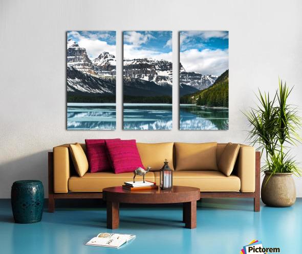 Winter Lake Split Canvas print