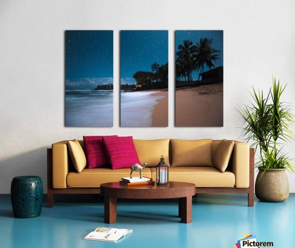 Tropical Night Split Canvas print