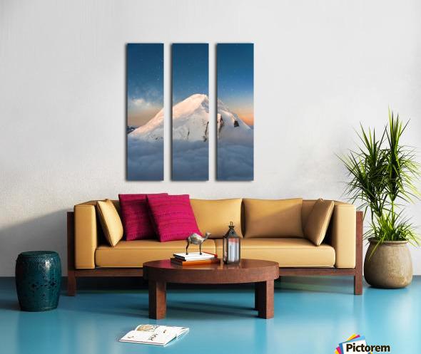 Starry Peak Split Canvas print