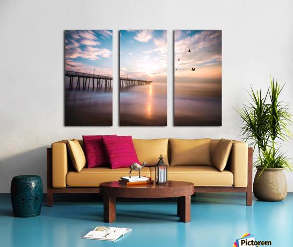 VA Beach Sunrise Split Canvas print