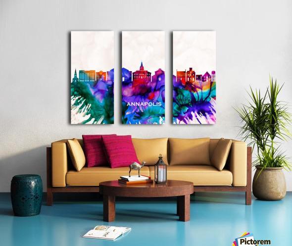 Annapolis Skyline Split Canvas print