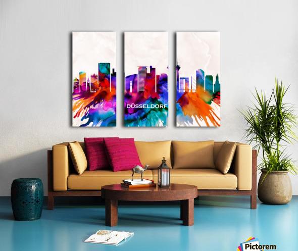 Dusseldorf Skyline Split Canvas print