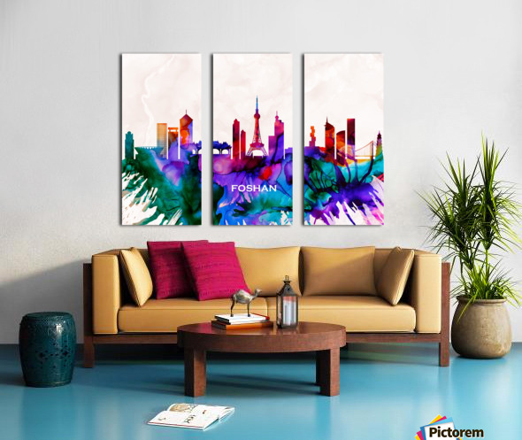 Foshan Skyline Split Canvas print