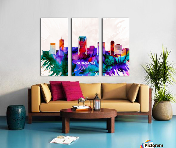 Gurgaon Skyline Split Canvas print