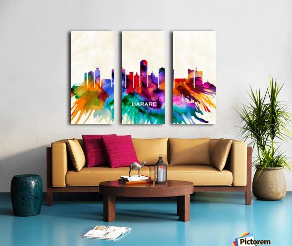 Harare Skyline Split Canvas print