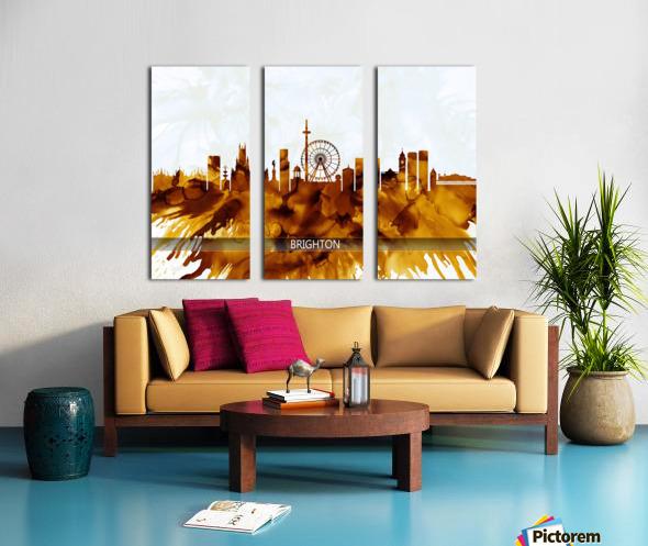 Brighton England Skyline Split Canvas print