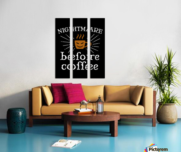 Nightmare Before Coffee Split Canvas print