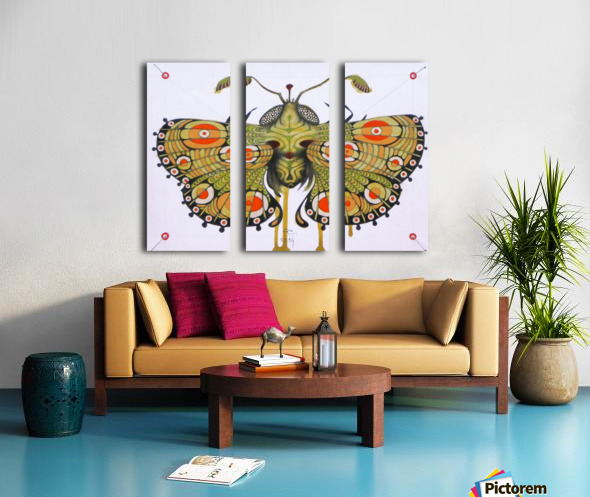 moth Split Canvas print