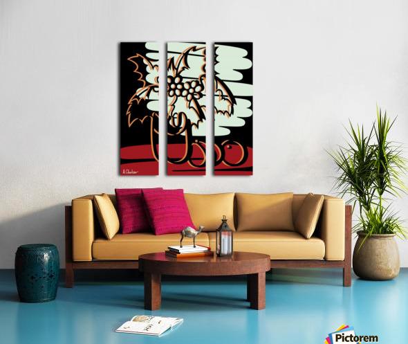 Still Life with Flowers Split Canvas print